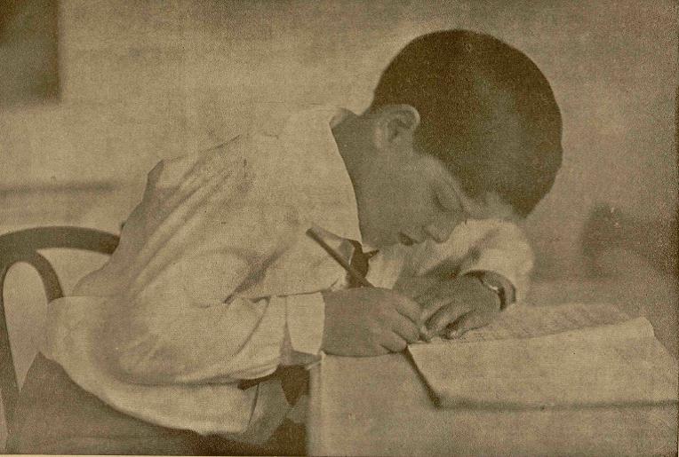 Regele Mihai I la studiu - 1929