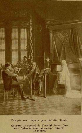 Concert de cameră la Castelul Peleş – Carmen Sylva la pian şi George Enescu la Vioară