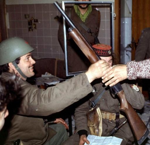 Vukovar, noiembrie 1991. AFP PHOTO/STR / AFP PHOTO