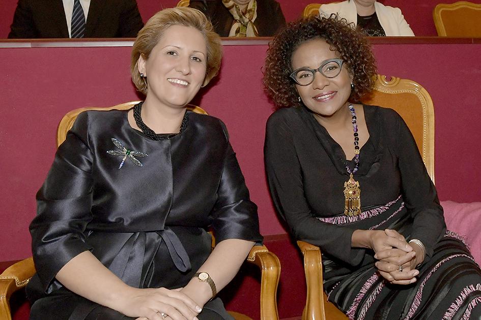 Doamna Liliana Țuroiu - președintele Institutului Cultural Român Doamna Michaelle Jean – secretar general al Organizației Internaționale a Francofoniei