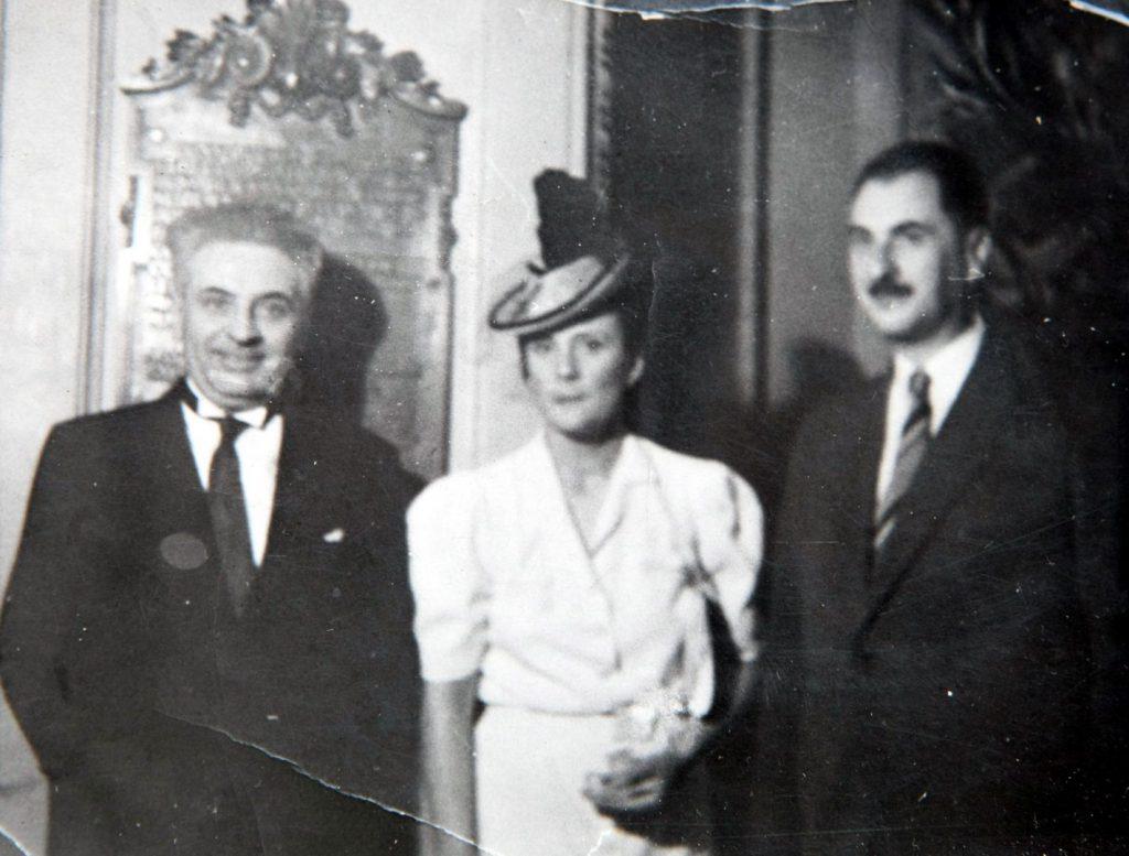 P. Papacostea, Elena Brătianu şi Gh. Brătianu; sursa: marturisitorii.ro