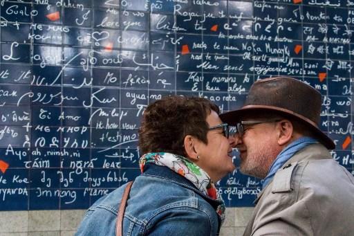 Le Mur des je t'aime   / AFP PHOTO / STR