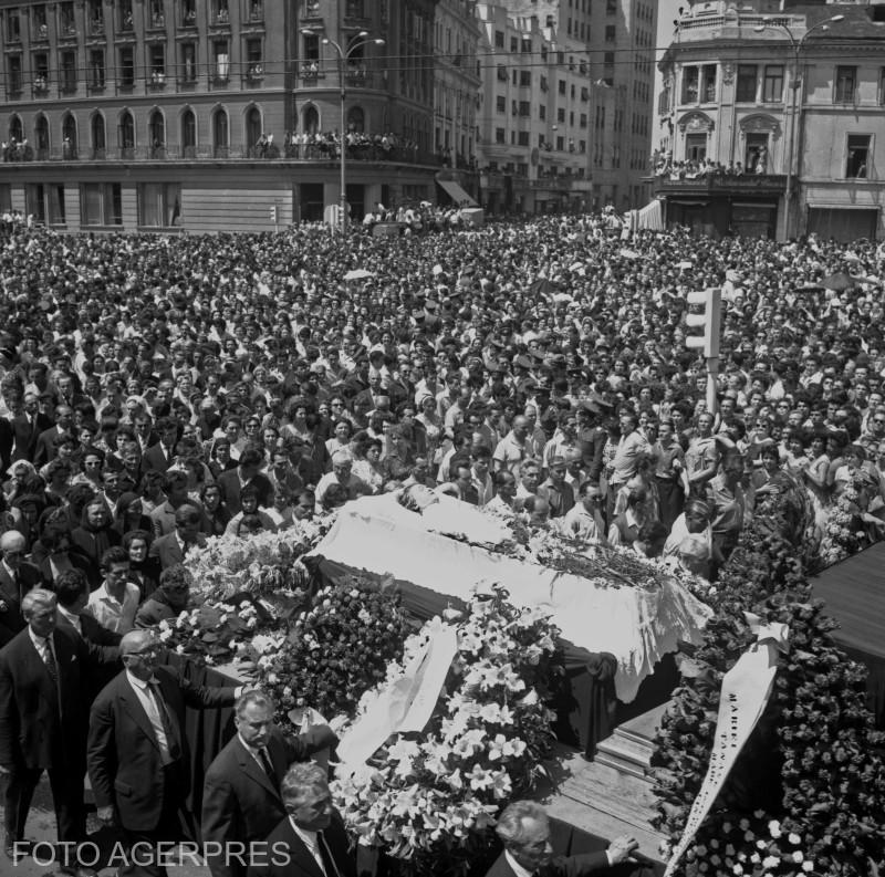 Maria Tanase - funeralii. 22 iunie 1963