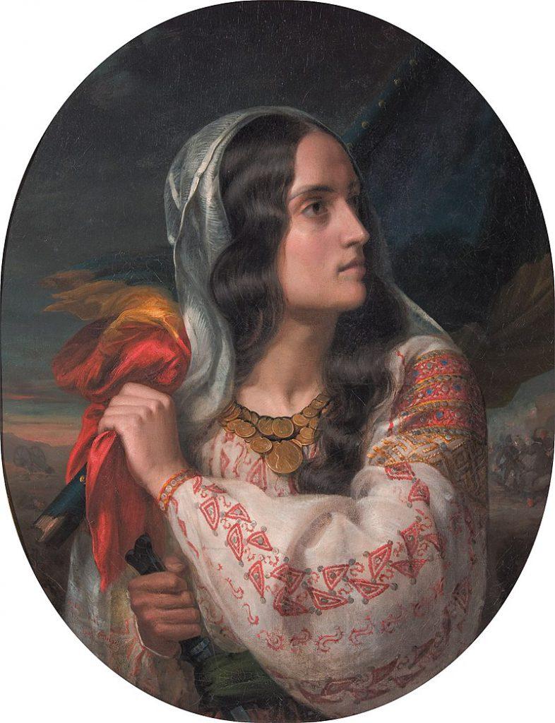 România revoluționară, tablou de C.D. Rosenthal, în care apare înfățișată Maria Rosetti - sursa foto: https://ro.wikipedia.org