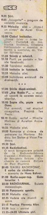 Programul 3 – aprilie 1973 – Publicaţia Radio TV