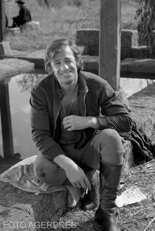 Actorul francez, Jean Paul Belmondo, la Buftea 7 octombrie 1970