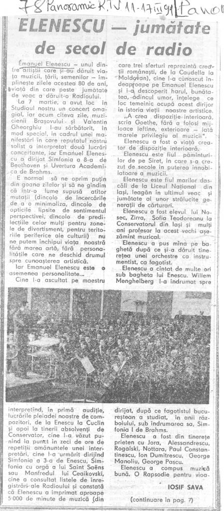 Panoramic Radio-Tv, 11 – 17 martie 1991