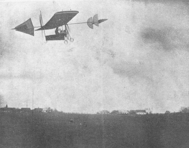 Aurel Vlaicu în zbor